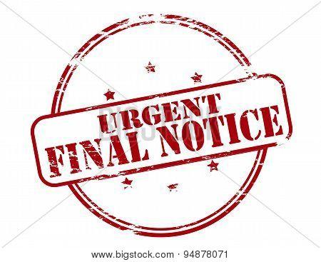 Urgent Final Notice