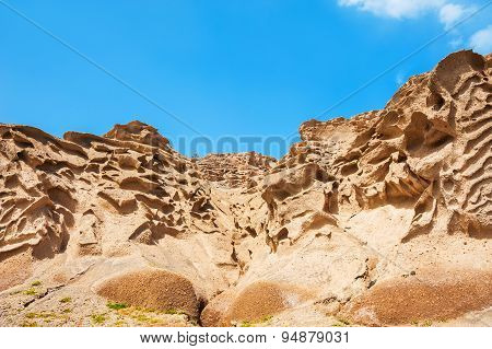 Volcanic Mountains Of White Pumice