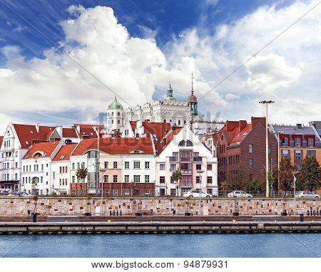 Szczecin (stettin) City Waterfront View, Poland.