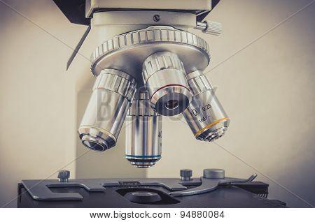 Microscope In Scientific And Healthcare Research Laboratory