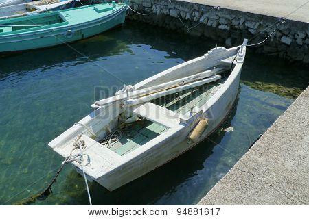The harbor of Kraj on the Croatian island Pasman