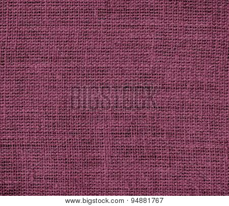 Deep ruby burlap texture background