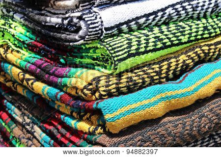 Stack Of Colorful Blankets