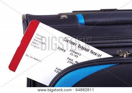 luggage tag and travel bag