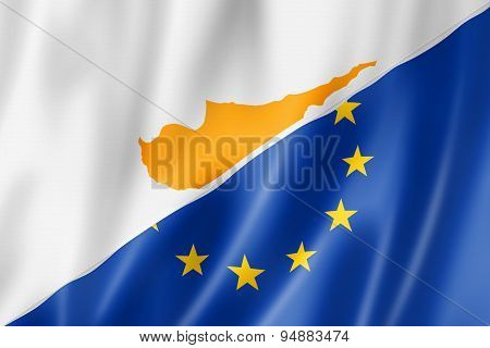 Cyprus And Europe Flag
