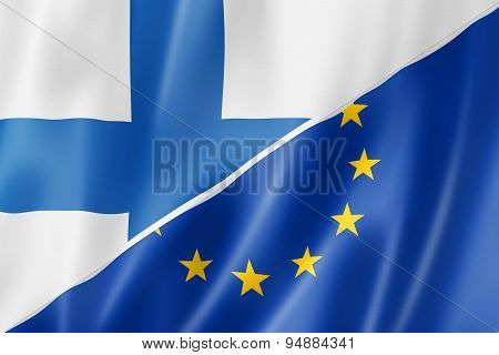 Finland And Europe Flag