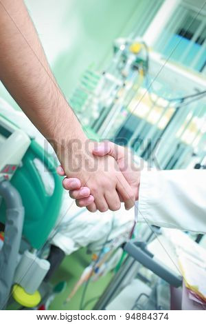 Shaking Hands In Hospital
