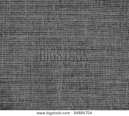 Dim gray burlap texture background