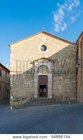 Campanile Di Montalcino, A Wine Town, Siena, Tuscany