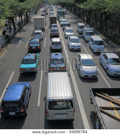 Traffic jam Tokyo Japan