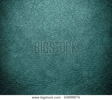 Desaturated cyan leather texture background