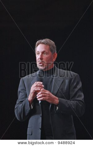 San Francisco, Ca, Sep 19 - Ceo von Oracle, Larry Ellison macht seine Rede auf der Oracle Openworld Konf