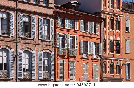 Facades Of Toulouse