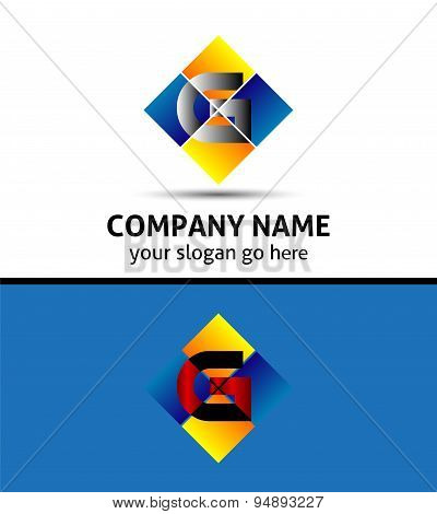 Letter G Company logo icon template set