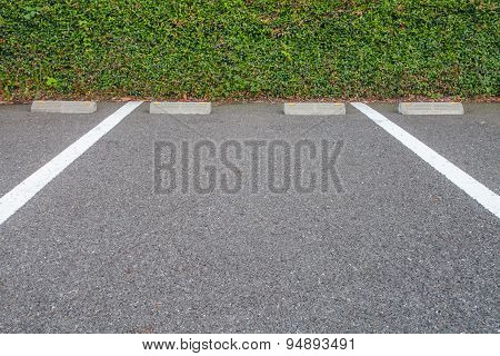 Outdoor empty space at car parking lot