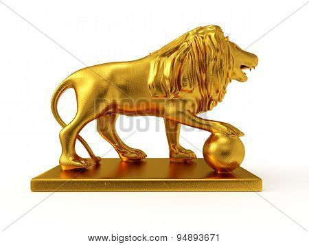 Golden Statue Of A Lion (right View)