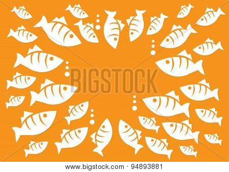 Marine Life - Fish Meeting Vector Illustration