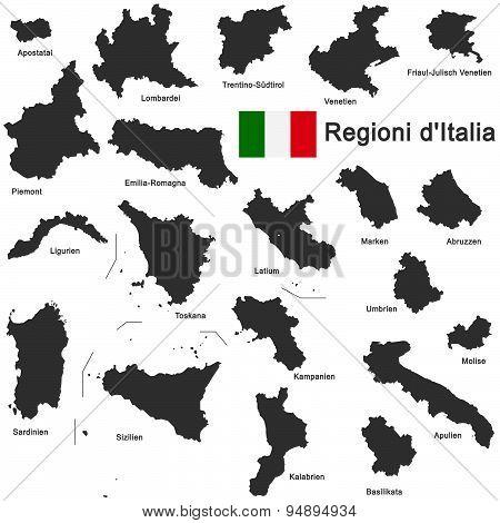 Italia And Regions
