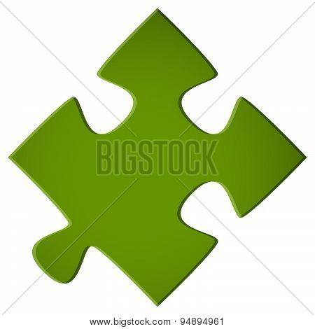Green Puzzle Piece