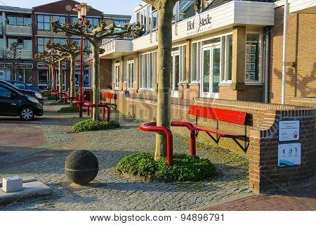 Cars On The Parking Lot On The Street Prinses Marijkeweg In Meerkerk, Netherlands