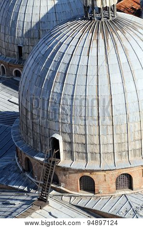 Great Dome Of The Cathedral Of Sain Tmark  In Venice