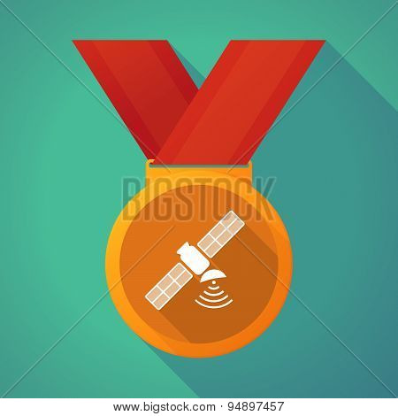 Long Shadow Medal With A Satellite