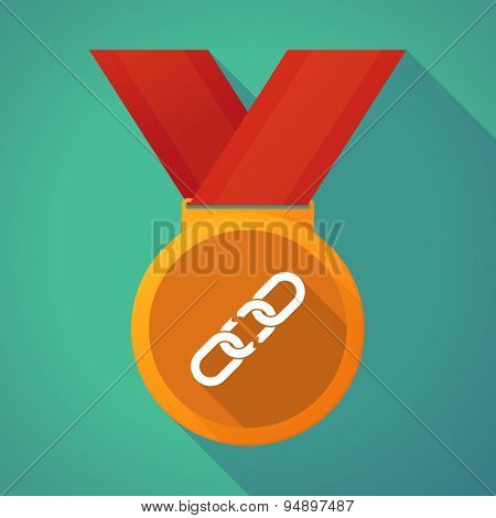 Long Shadow Medal With A Broken Chain