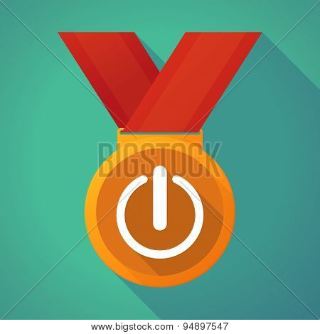 Long Shadow Medal With An Off Button