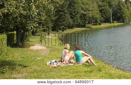 People Rest In Park Izmaylovsky