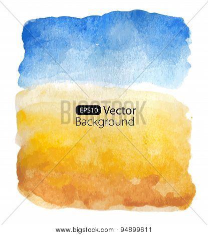 Summer sunny landscape. Vector background.