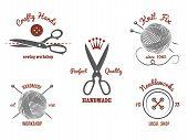 picture of knitting  - Handmade logos set - JPG