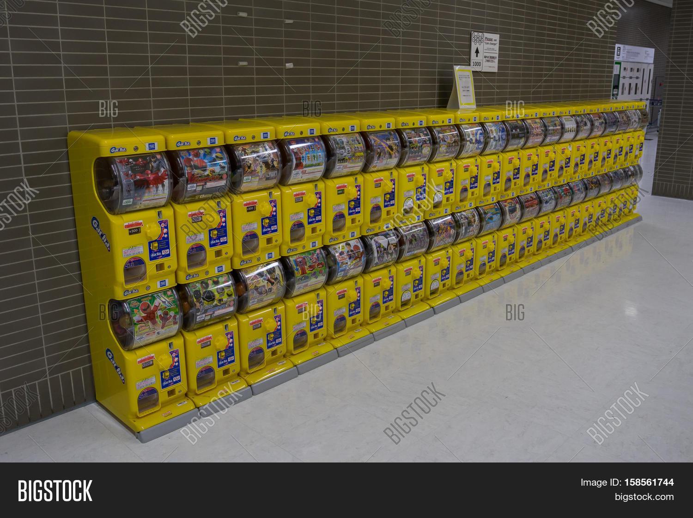 Japanese Capsule Toys : Tokyo japan november japanese capsule toy