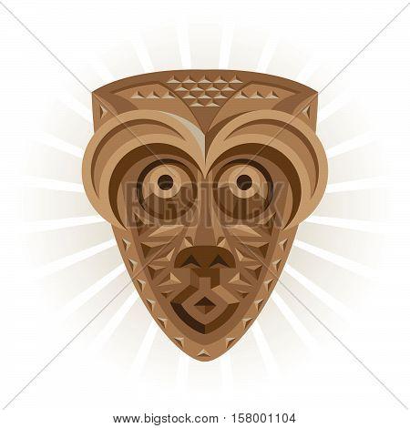 Africa. Ritual wooden ethnic African shaman mask