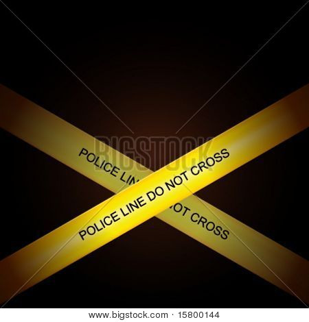 Police line tape vector background. Eps 10.
