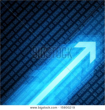 3g graph arrows move up with numbers vector background