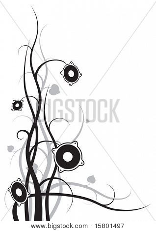 Isolated speakers on white background