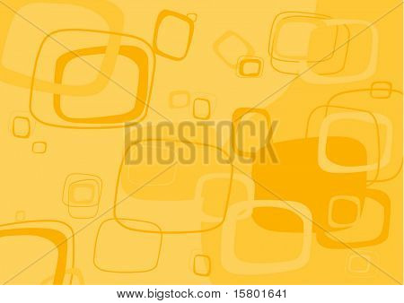 Yellow rectangle background. Vector.