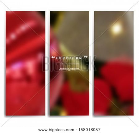 Three sets of blurred defocus Christmas background. eps10 vector
