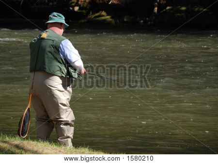 Fisherman Trying His Luck