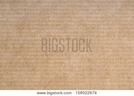 Paper texture recycled cardboard background. Brown cardboard with horisontal strips