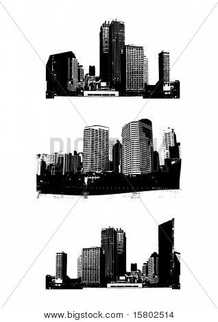 Skyscrapers. Vector
