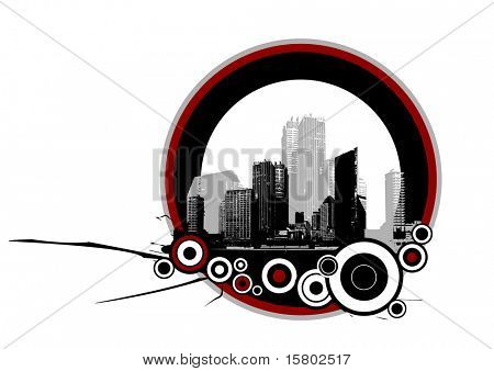 City with circles.
