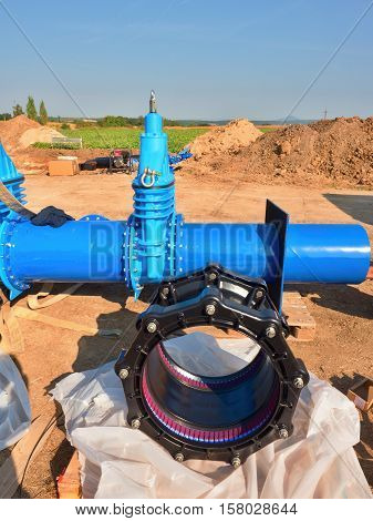500Mm New Black Waga Multi Joint Unit. 500 Mm Drink Water Gate Valve Screwed