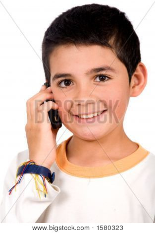 Kid On The Phone