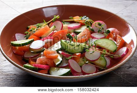 Delicious Spring Salad With Radishes