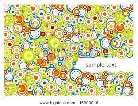 Abstract background with place for text. Vector