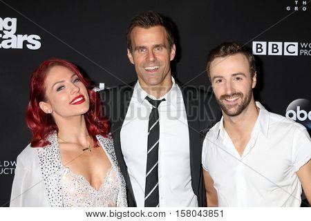 LOS ANGELES - NOV 22:  Sharna Burgess, Cameron Mathison, James Hinchcliffe at the