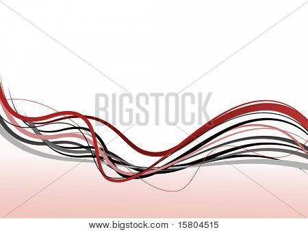 Abstract lines. Vector art