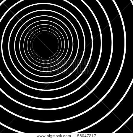 Concentric Lines. Spiral Background. Volute Hypnosis Circular Rotating Background.