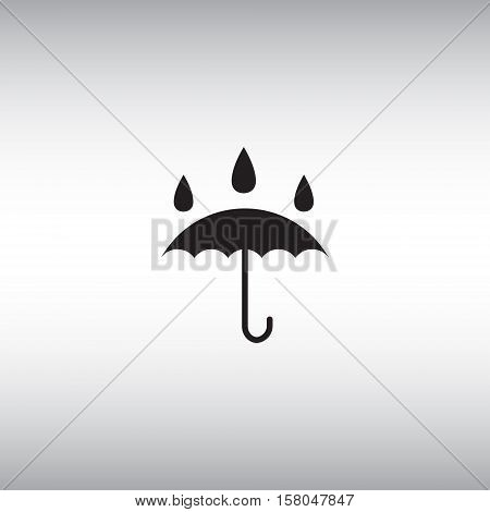 Umbrella flat vector icon. Isolated waterproof vector sign.